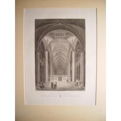 España. Cataluña. «Interior  de la catedral de Barcelona» Alexandre Laborde (1810-11).