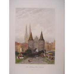 Alemania. «The Holstein Gate Lubeck» Pintó C. Werner. Grabó J. Godfrey.