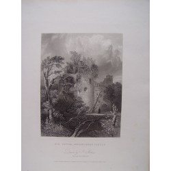 Alemania. 'Old Tower , Heidelberg Castle' Dibujo J. Archer. Engraved by Henry Wingles (activo en Londres 1819-32)