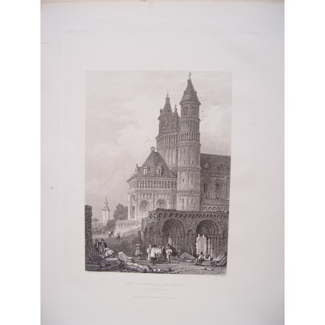 Alemania. 'The Cathedral of Worms'. Engraved by William Wallis (1796-  )
