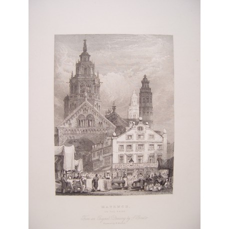 Alemania. 'Mayence' Dibujo S. Prout. Engraved by W. Henshall
