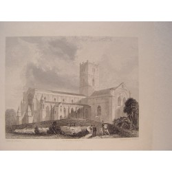 Alemania. 'St. Davids cathedral'. Painted by C. Warren. Engraved by B. Winkles.