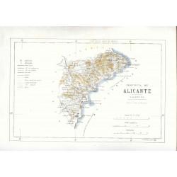 «Mapa de la provincia d Alicante» por Benito Cuaranta