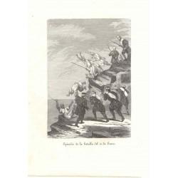 «Episodio de la batalla del 12 de enero» Firmado Llopis