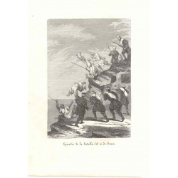 Episodio de la batalla del 12 de enero' Signed Llopis
