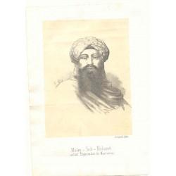 «Muley-Sidi-Mohamet actual emperador de Maruecos» Litografió Labielle Barna