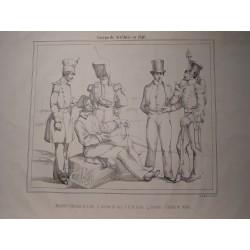 «Cuerpo de Artilleria en 1846» Litografía del Museo de Artillería.