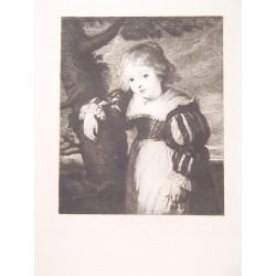 «Niña» Grabado por François Flameng (1856-1923) sobre obra de Rubens.