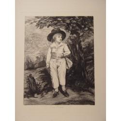 «Joven» Grabado por Leon Richeton (activo en la segunda mitad del siglo XIX)
