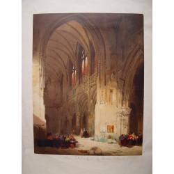 «Interior catedral» Litografía de David Roberts.