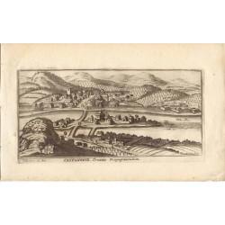 Croacia.  «Castanowiz» Villa fortificada en Croacia. I. Peeters. Por Gaspar Bouttats (Anvers,1640-1695)