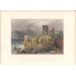 Rumania. «Drey Kule Swinitza with remains of the roman fort» Dibujó W. H. Barlett (1809-1854).Grabó S. Bradshaw.