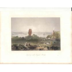 Rumania. «Sozorney with Trajan´s Bridge» Dibjó W. H. Barlett(1809-1854).. Grabó R. Wallis