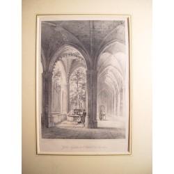 España. Cataluña. Barcelona. «Galería del Jardín de la catedral de Barcelona»