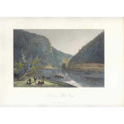 Estados Unidos. 'Delaware Water Gap' Painted by W.G. Perkins (Baltimore,1830-1895). Engraved by Robert Hinshelwood (1812-)