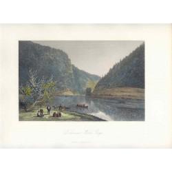 Estados Unidos. «Delaware Water Gap» Dibujó W.G. Perkins (Baltimore,1830-1895). Grabó Robert Hinshelwood (1812-)