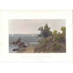 Estados Unidos. «On the Beverly Coast Massachussetts» De un cuadro de J.F. Kensett (1818-1872). Grabó Robert Hinshelwood (1812-)