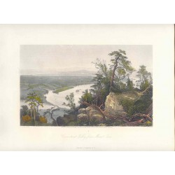 Estados Unidos. 'Connecticut Valley from Mount Tom' Painted by J.F. Woodward(). Engraved by Samuel.V. Hunt (1803-1892)