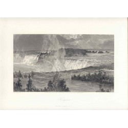 Estados Unidos. 'Niagara' Painted by Harry Fenn (1845-1911). Engraved by Samuel.V. Hunt (1803-1892)