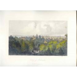 Estados Unidos. «City of Milwaukee» Dibujó A.C. Warren(1819-1904).). Grabó Robert Hinshelwood (1812-)