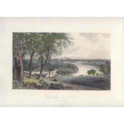 Estados Unidos. «Philadelphia from Belmont» Dibujó G. Perkins (1830-1895).. Grabó Robert Hinshelwood (1812-)