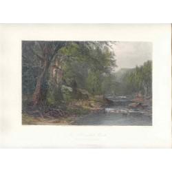 Estados Unidos. «The Adirondack Woods» Dibujó James.Macdonald.Hart (1828-1901). Grabó Robert Hinshelwood (1812-)