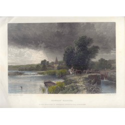 Estados Unidos. «Showery Weather» Pinto George Vicat Cole (1833-1893). Grabó Charles Cousen (1819-1889)