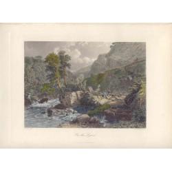 Estados Unidos. Massachusett. «On the Lynn» Dibujó Samuel Cook (1806-1859). Grabó John Godfrey (1817-1889).