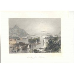 Estados Unidos. 'Clew Bay from Wesport' Painted by W.H. Barlett (1809-1854). Engraved by Robert Wallis (1794-1878)