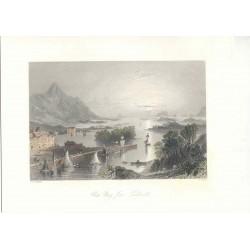 Estados Unidos. «Clew Bay from Wesport» Dibujó W.H. Barlett (1809-1854). Grabó Robert Wallis (1794-1878)