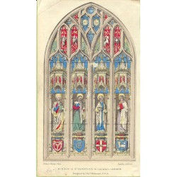 «Window in St. Dunstan´s in the West- London». Dibujado en piedra por J. Blore. Litografió J. Netherclift