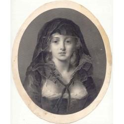 «Joven» Grabado por F. Joubert sobre obra de J.B. Greuze.