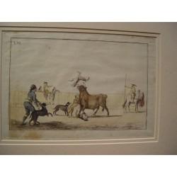 «Corrida de toros» Grabado original de Antonio Carnicero (1748-1814) de la serie 'La tauromaquia' 1790