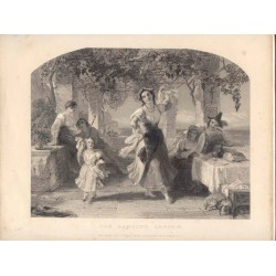 The dancing lesson' engraved by J. Outrim from a painting of T. Uwins