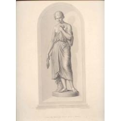 «Lavinia» Grabado por W. Roffe de la estatua de mármol por B.E.Spence