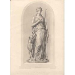 Penelope. Grabado por W. H.Mote sobre un dibujo facilitado por el escultor R. J. Wyatt