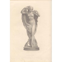 Euphrosyne' grabado por W. Roffe sobre una estatua de Sir R. Westmacott