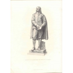 John Bunyan' Grabado por H. Balding de una estatua de J. E. Bohem