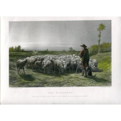 The Shepherd' Engraved by C. Cousen after Rosa Bonheur