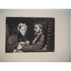 «La Consolation» sobre obra de Ferencz Paczka. Grabado por Ch. Waltner en 1877.