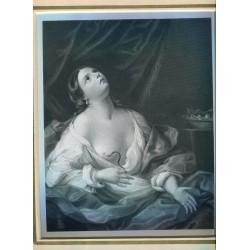 «Cleopatra» Grabado de Henry Chawnes Shenton (1825-1846)