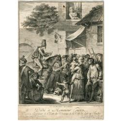 Le charlatan allemand'  gravee par Bertaux y Helman del XVIII century.