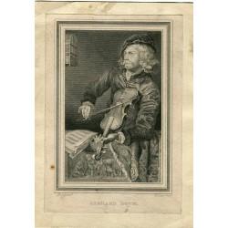 «Retrato de Gerard Dou» Grabado por Courier sobre obra de Ipse