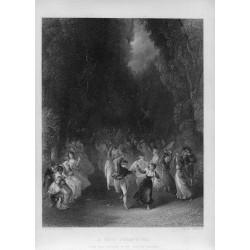 «A fete champetre» grabado por C. Cousen after T. Stothard en 1851