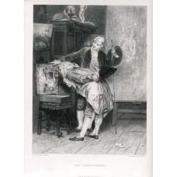 «The connoisseur» grabado por L. Richeton sobre obra de G. Boldini