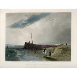 Inglaterra. Bristol. «The old pier at Littlehampton» grabado por J. Cousen sobre obra de A.W. Callcott