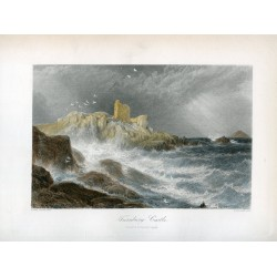 Scotland. 'Turnbury Castle' Engraved by S. Bradshaw after Birket Foster.