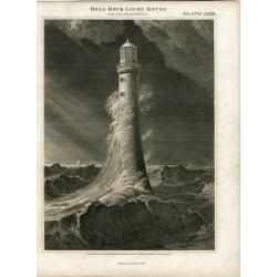 Escocia. «Bell Rock light house» Dibujado y grabado por Lizars sobre obra de W. Lorimer en 1816