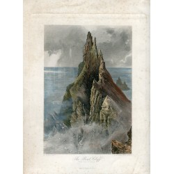 Irlanda. «The Bent Cliff»  Costa Grabado por R. Hinshelwood sobre obra de H. Fenn. Firmado en plancha.