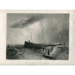 Inglaterra. Sussex. 'The old pier at Littlehampton' gr. por J.Cousen obra A.W. Callcott